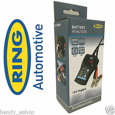 RING 12V Battery Electrical System tester Analyser vehicle car van tractor RBA50