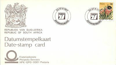 South Africa Philatelic Stamp Card 1977