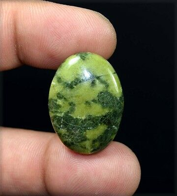 31.20 Cts. 100 % Natural  Canadian Jade  Oval Cabochon Untreated Loose Gemstones