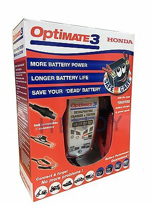 Genuine HONDA OPTIMATE 3 Battery Charger Conditioner 12v 2-50AH suits all makes