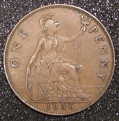 1-Coin from Great Britain.  Penny.  1936.