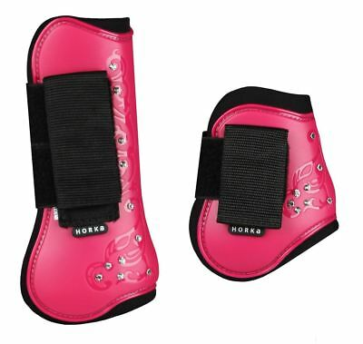 Horka Royal Crystal Horse Riding Equestrian Protection Patterned Tendon Boots
