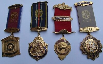 Raob Royal Order Of Buffaloes Four Different Medals Grimsby Interest