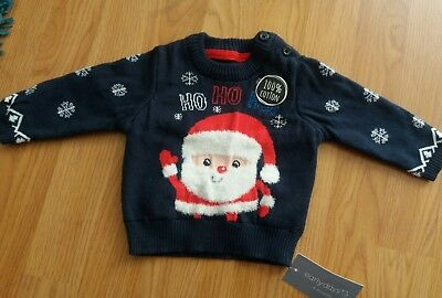 Baby Boys Christmas Jumper 0-3 Months (New)