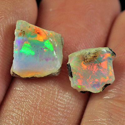 8.7CT 100% Natural Ethiopian Play Of Color Welo Opal Collectible UYOL2031