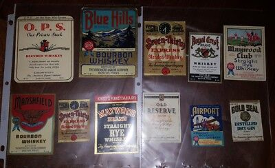 Whiskey and Gin Labels, unused