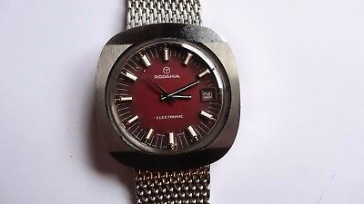 RODANIA Electronic vintage watch handwinder RARE NEW NOS