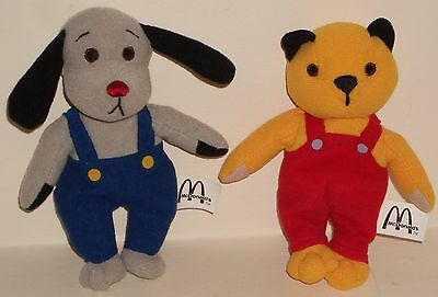 SOOTY & SWEEP McDonalds 2001 Beanie Soft Toy Set