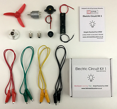 Electric Circuit Kids Kit - School Project and Science Components - Montessori