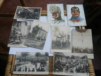 Small Job Lot Of 9 French Ww1 Military World War 1  Postcards