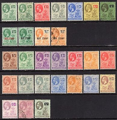 Montserrat KGV Selection M/Mint-Used (All Different)