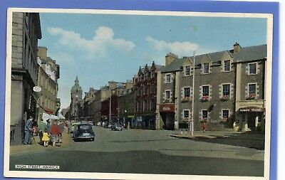 Old Vintage Postcard High Street Hawick Roxburghshire Tower Hotel Car