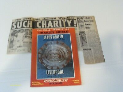 Charity Shield 1974 - Leeds V Liverpool - Prog & Newspaper Picture