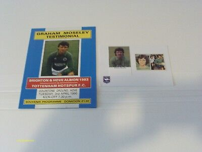 Graham Moseley Testimonial Prog & Signed Picture - Tues 19Th April 1990