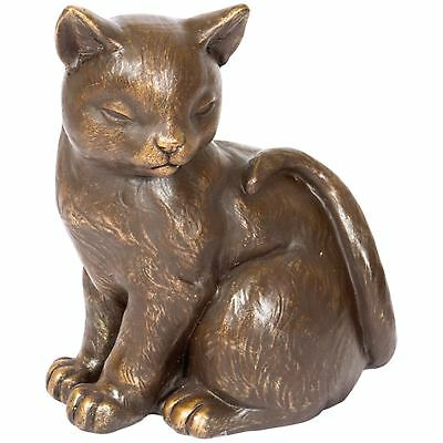 Cat Cremation Urn Pet Memorial Statue Ashes Bottom Load