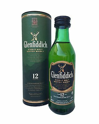 BOTELLA WHISKY GLENFIDDICH 12 YEARS MINIATURE 1 (BOXED) · (5cl, 40%)