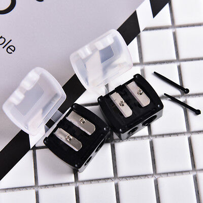 2 Holes Precision Cosmetic Pencil Sharpener for Eyebrow Lip Liner Eyeliner Ct