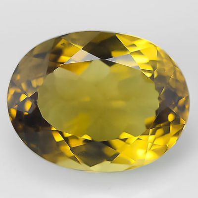 LARGE 15x11mm OVAL-FACET NATURAL AFRICAN GOLDEN CITRINE GEMSTONE (APP £265)
