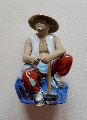Chinese Seated Man hand-painted ornament