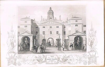 Engraving Horse Guards Parade C1840's
