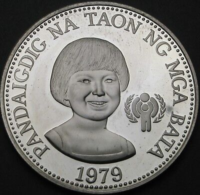 PHILIPPINES 50 Piso 1979 Proof - Silver - Rights of the Child - 379 ¤