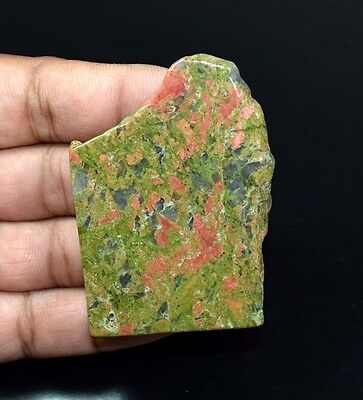 216.20  Cts. 100 % Natural Unakite Jasper  Top Rough Slab For Making Cabochons