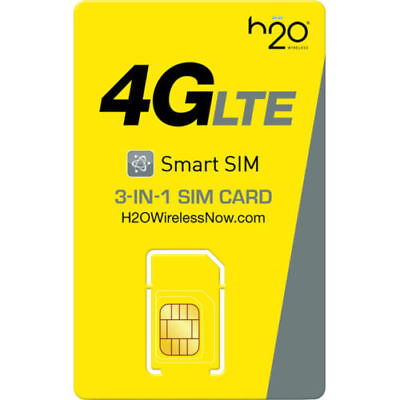 PORT YOUR NUMBER TO H2O Wireless + $30 1st MONTH SERVICE NANO/Micro/Reg SIM Card