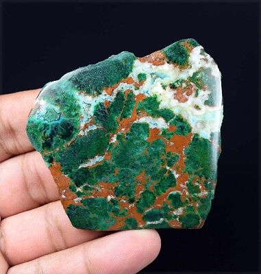 264.90 Cts.100 % Natural Huge  Malachite Chrysocolla Rough Slice For Cabochons