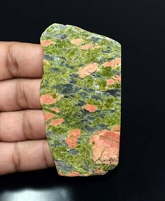 310.00 Cts. 100 % Natural Unakite Jasper  Huge  Rough Slab For Making Cabochons
