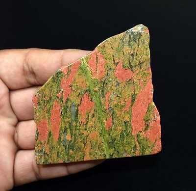304.90 Cts. 100 % Natural Unakite Jasper Top  Rough Slab For Making Cabochons