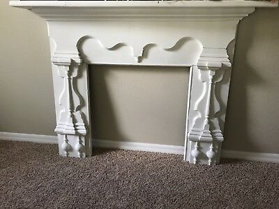 Antique Wooden Fireplace Surround and Mantle
