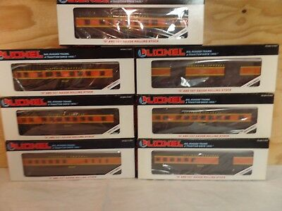 Set Of 7 Lionel Train Illinois Central Passenger Cars 6-16049 16044 16047 16043