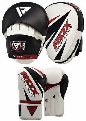 RDX Focus Pads With Boxing Gloves Hook and Jab Kickboxing MMA Punching Black AU