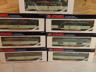 Set Of 7 Lionel Train Northern Pacific Passenger Cars 6-16024 16035 16036 16039