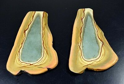 Rare Pair !  441.70 Cts. 100 % Natural Polygram Jasper Rough Slice For Cabochon