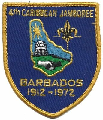 4th Caribbean Jamboree patch - Barbados 1972