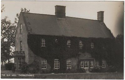 Real Photo Postcard Of The Old Hall, Theddlethorpe , Lincolnshire