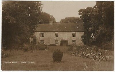 Real Sepia Photo Postcard Of Manor Farm, Theddlethorpe , Lincolnshire