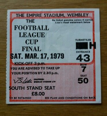 ORIGINAL 1979 League Cup Final Ticket - N Forest vs Southampton