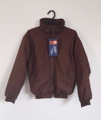"Loveson Equestrian Brown Fleece Lined Riding Jacket - Size Small (40"") - NEW!"