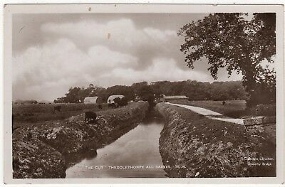 Lilywhite  Real Photo Postcard Of The Cut, Theddlethorpe All Saints , Lincs
