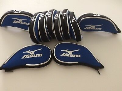 10 Mizuno blue with black trim superior golf club iron head covers HEADCOVERS