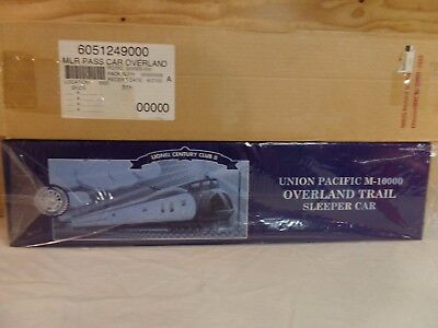 Lionel Train Up M-10000 Overland Trail Union Pacific Railway Sleeper Car 6-51249