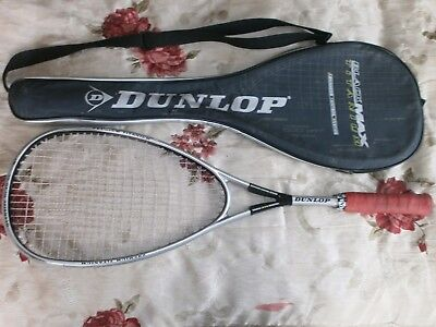 Dunlop Black Max Titanium Advanced Control System Squash Racket And Cover