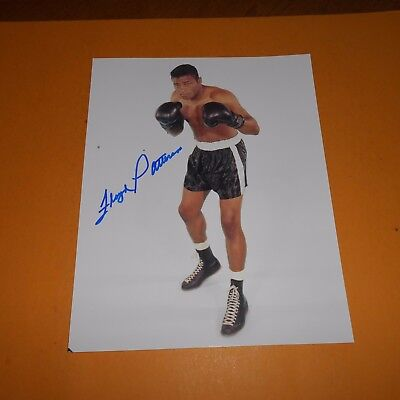 Floyd Patterson Hand Signed Photo 2 x reigned as the world heavyweight champion