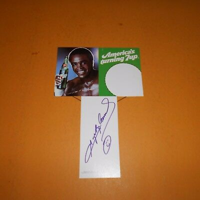 """""""Sugar"""" Ray Leonard former professional boxer, Hand Signed Photo 7 UP Ad"""