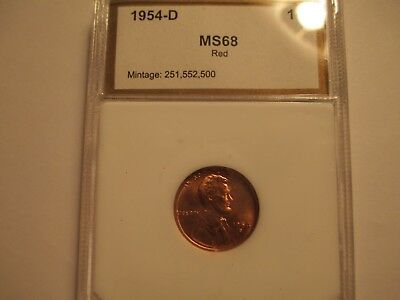 1954  D  UNCIRULATED  LINCOLN RED CENT    Business Strike