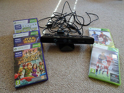 Xbox 360 Kinect Sensor + 5 games bundle