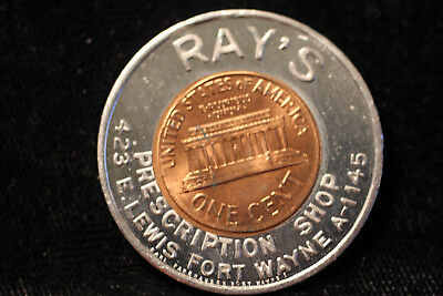 Fort Wayne, Indiana. RAY'S 1960-D encased cent