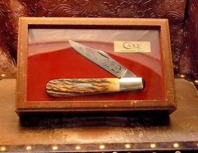 Vintage 1979 Case Xx Usa Genuine Stag Daddy Barlow Founders Knife;nr